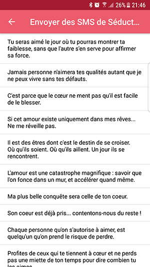Les régles de base et codes de drague par messages